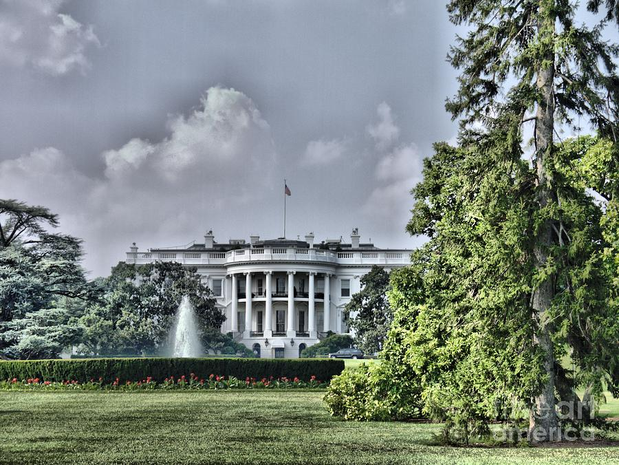 White House Photograph - The Peoples House by Arthur Herold Jr
