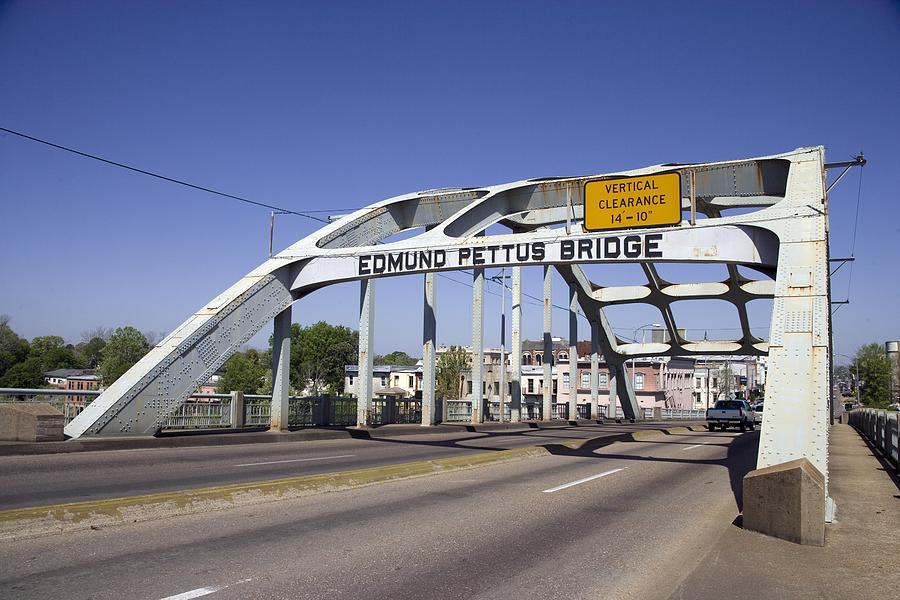 History Photograph - The Pettus Bridge In Selma Alabama by Everett