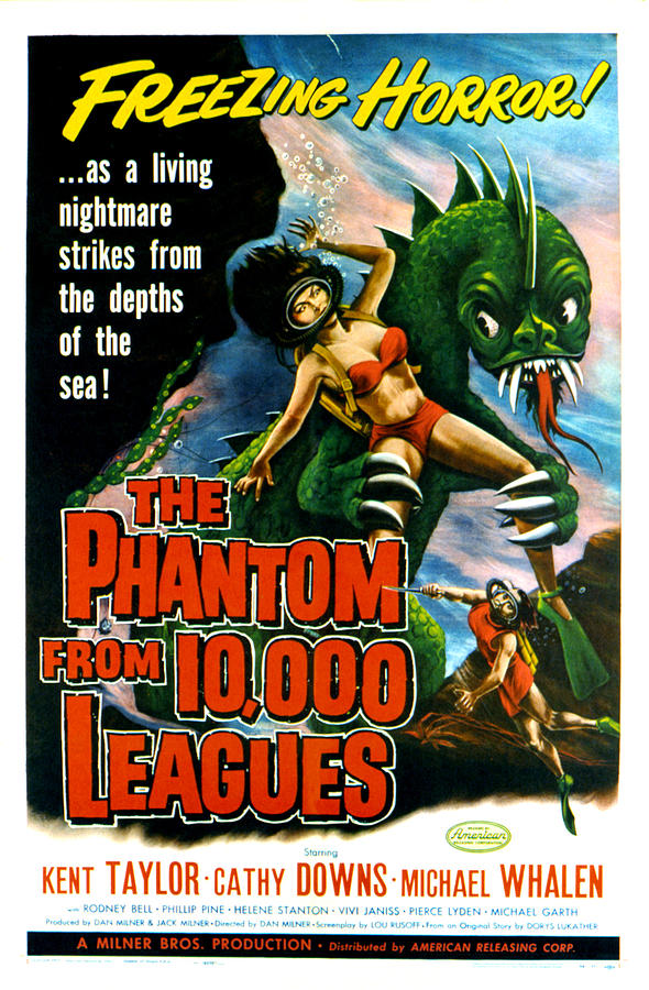 Creature Photograph - The Phantom From 10,000 Leagues, Poster by Everett