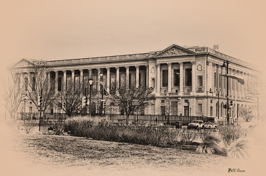 The Philadelphia Free Library Photograph - The Philadelphia Free Library by Bill Cannon