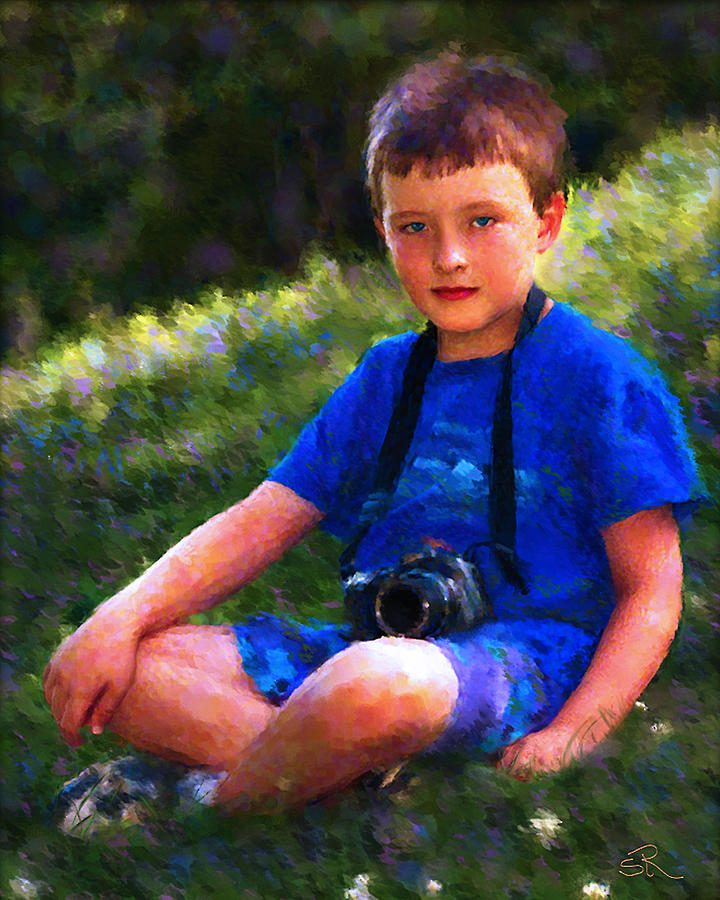 Child Painting - The Photographer by Suni Roveto