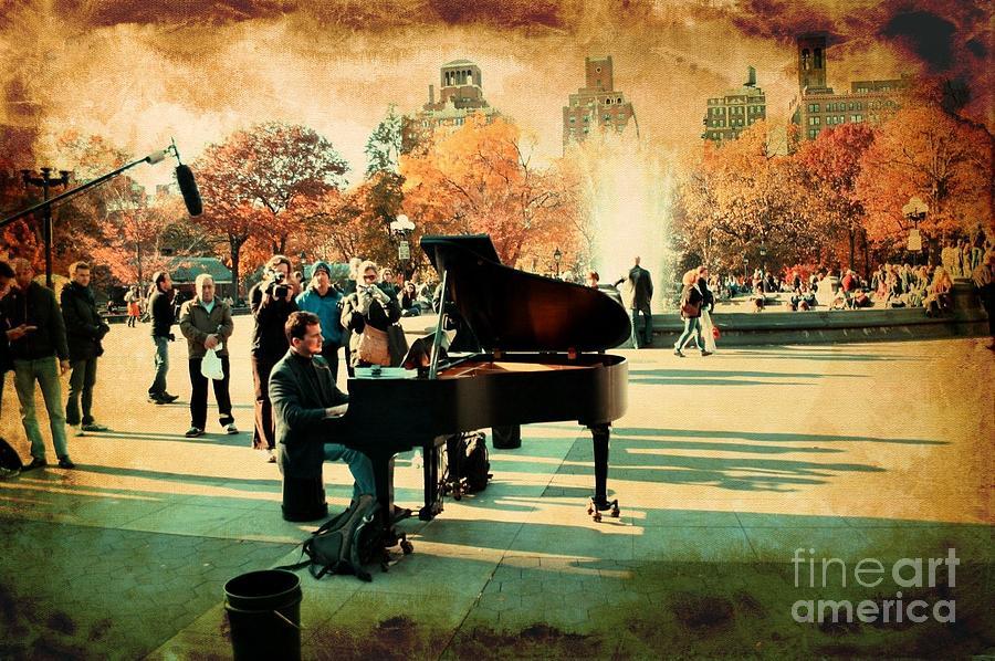 Piano Photograph - The Piano Man by Ken Marsh