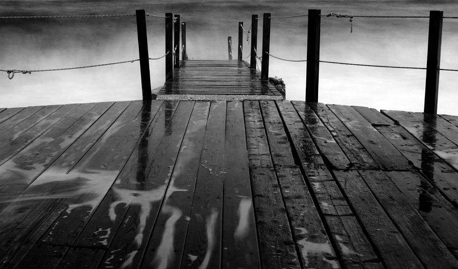 Black Photograph - The Pier...protaras by Stelios Kleanthous