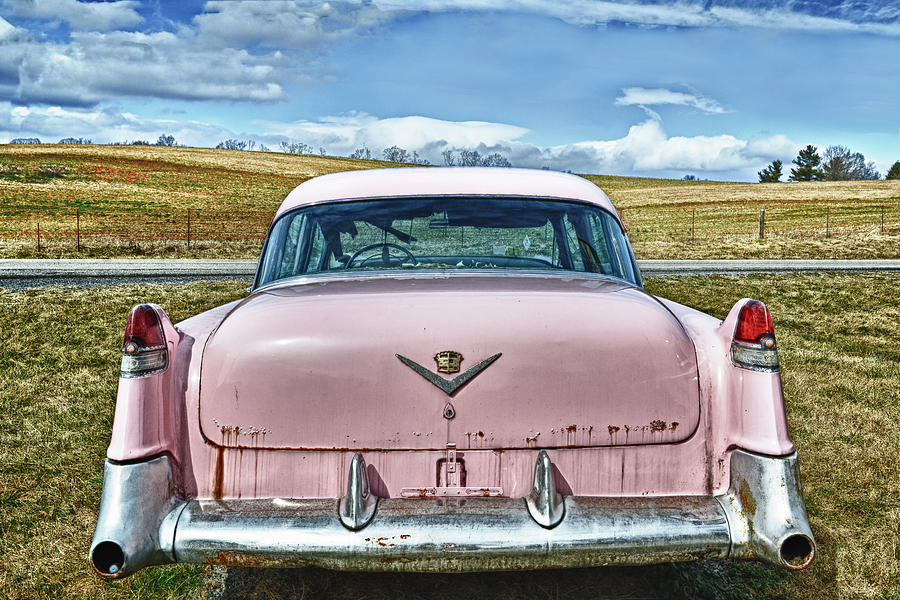 Pink Photograph - The Pink Cadillac by Kathy Jennings