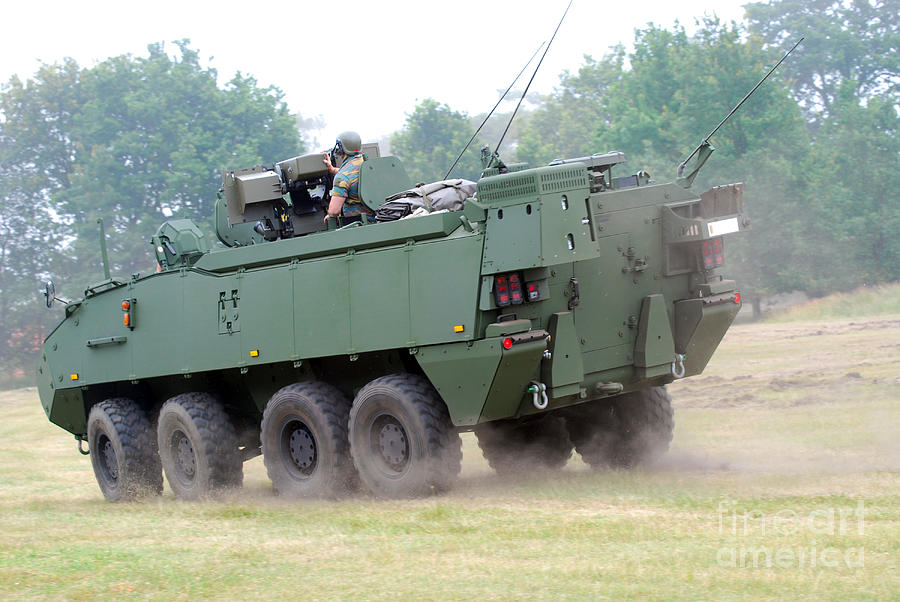 Military Photograph - The Piranha IIic Of The Belgian Army by Luc De Jaeger