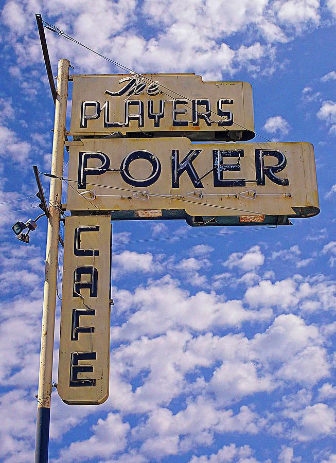Ventura Photograph - The Players Poker Cafe by Ron Regalado