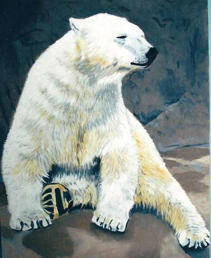 Bear Painting - The Polar Bear by Terry Forrest