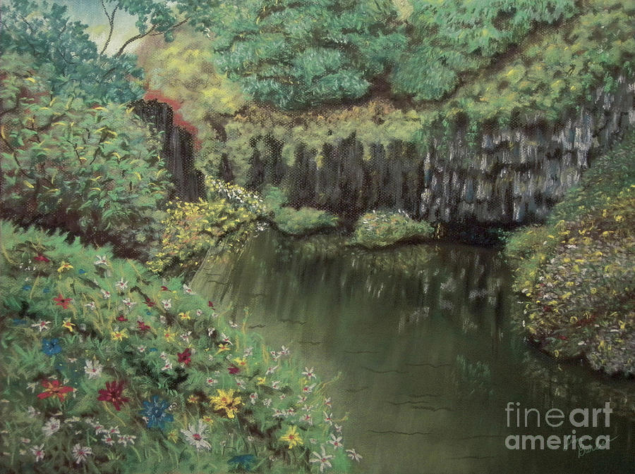 Impressionistic Painting - The Pond by Jim Barber Hove