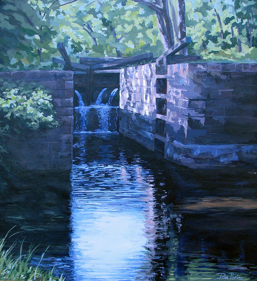 Landscape Painting - The Pool by Don Perino