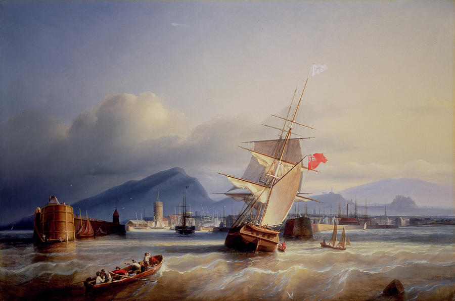 The Painting - The Port Of Leith by Paul Jean Clays