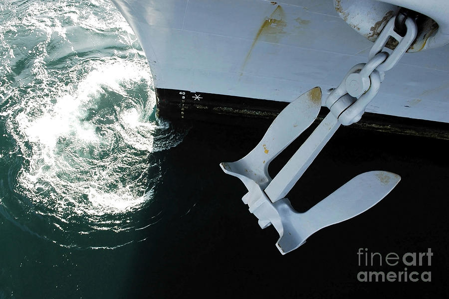 Color Image Photograph - The Port Side Mark II Stockless Anchor by Stocktrek Images