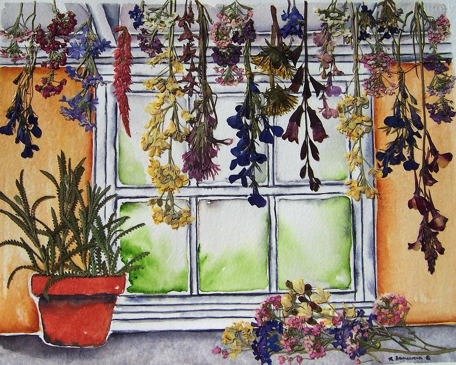 Mixed Media Painting - The Potting Shed II by Regina Ammerman