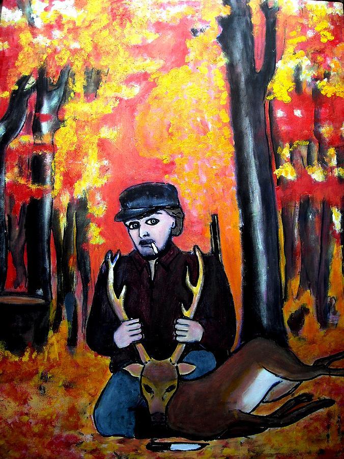 The Predator Painting by Elena Buftea