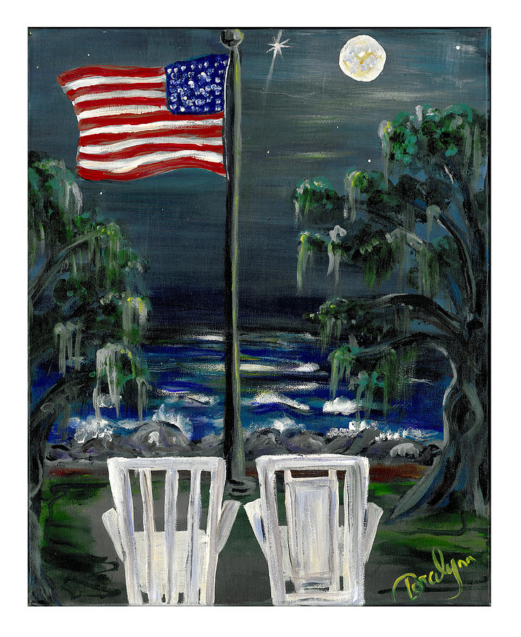 Us Flag Painting - The Presidential Suite by Doralynn Lowe