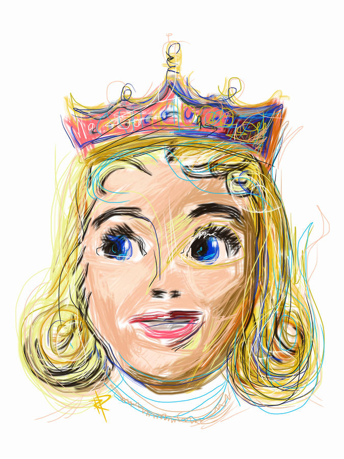 Princess Mixed Media - The Princess by Russell Pierce