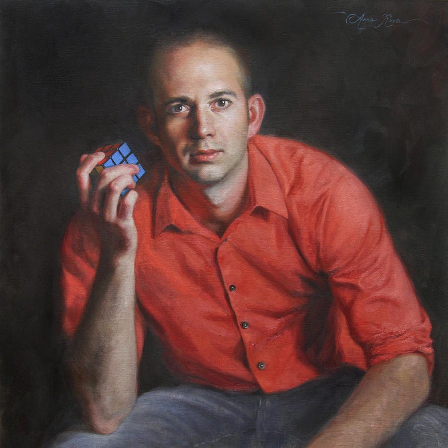 Man Painting - The Problem Solver by Anna Rose Bain