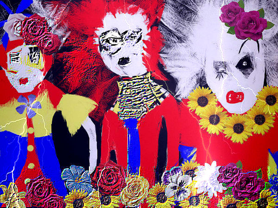 Drawing - the Punks come Out To Play by Rc Rcd