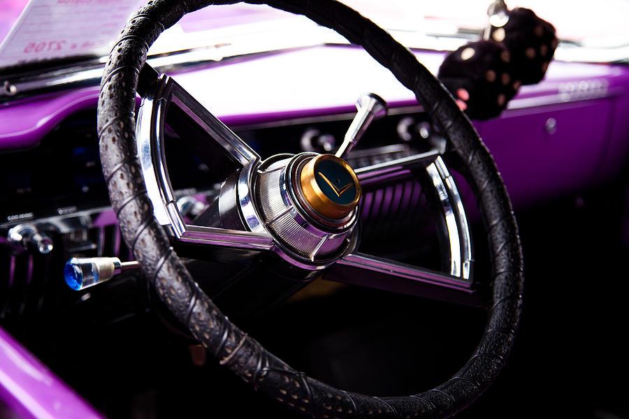 50 Photograph - The Purple 1950 Mercury by David Patterson
