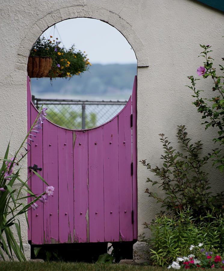 Flowers Photograph - The Purple Door by Dennis Pintoski & The Purple Door Photograph by Dennis Pintoski