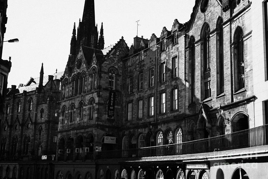 Quaker Photograph - The Quaker Meeting House On Victoria Street Edinburgh Scotland Uk United Kingdom by Joe Fox
