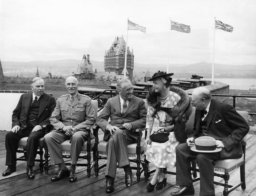 1940s Photograph - The Quebec Conference, Canadian Prime by Everett