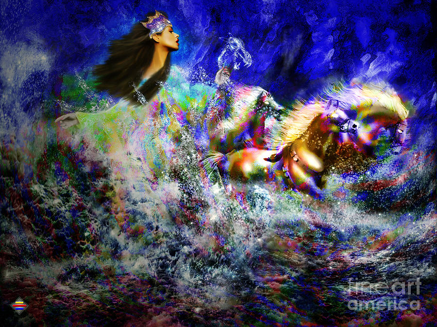 Spirit Digital Art - The Queen In Southern Sea by Vidka Art