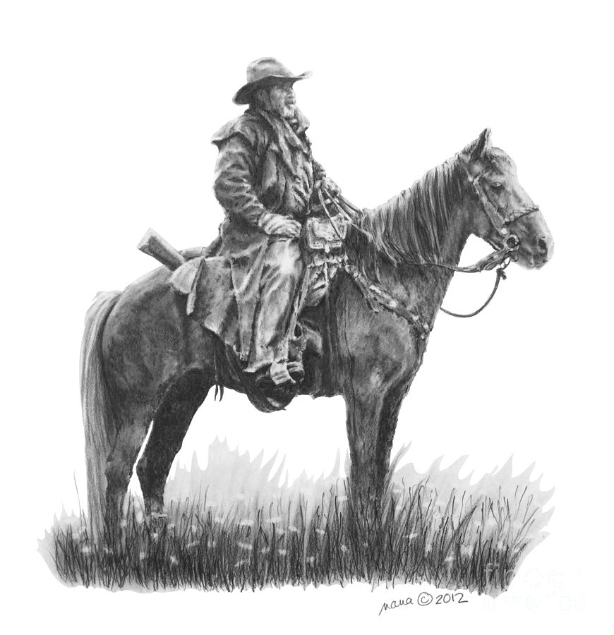 Horse Drawing - the Quest by Marianne NANA Betts
