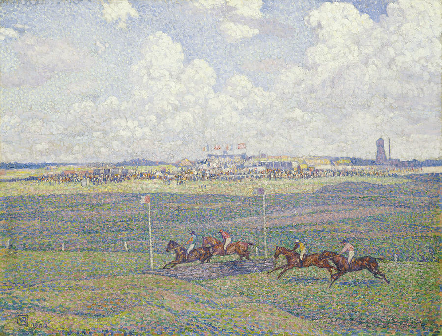Racecourse Painting - The Racecourse At Boulogne-sur-mer by Theo van Rysselberghe