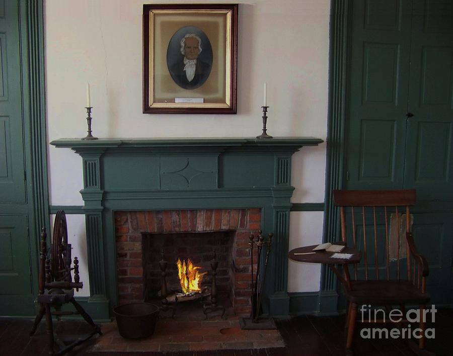Rankin House Photograph - The Rankin Home Fireplace by Charles Robinson