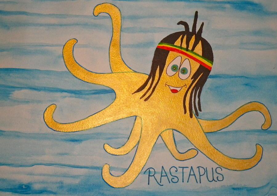 Ocean Digital Art - The Rastapus by Erika Swartzkopf