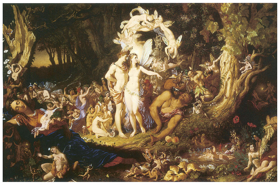 the reconciliation of oberon and titania painting by joesph noel paton