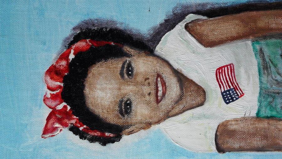 The Red Bandana Painting by Lora Bradshaw