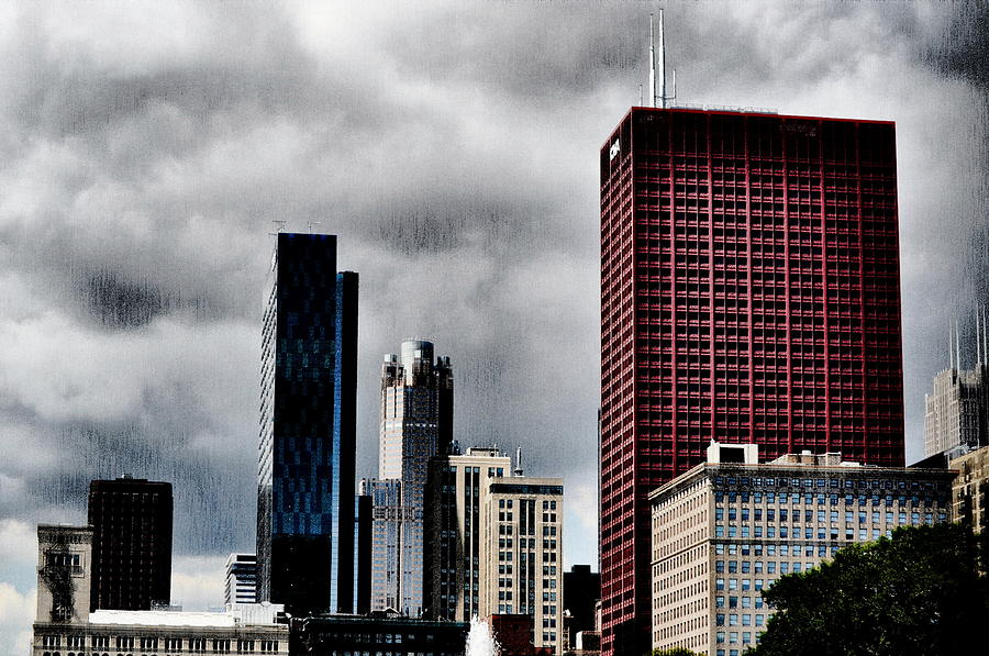 Chicago Photograph - The Red Building by Emily Stauring