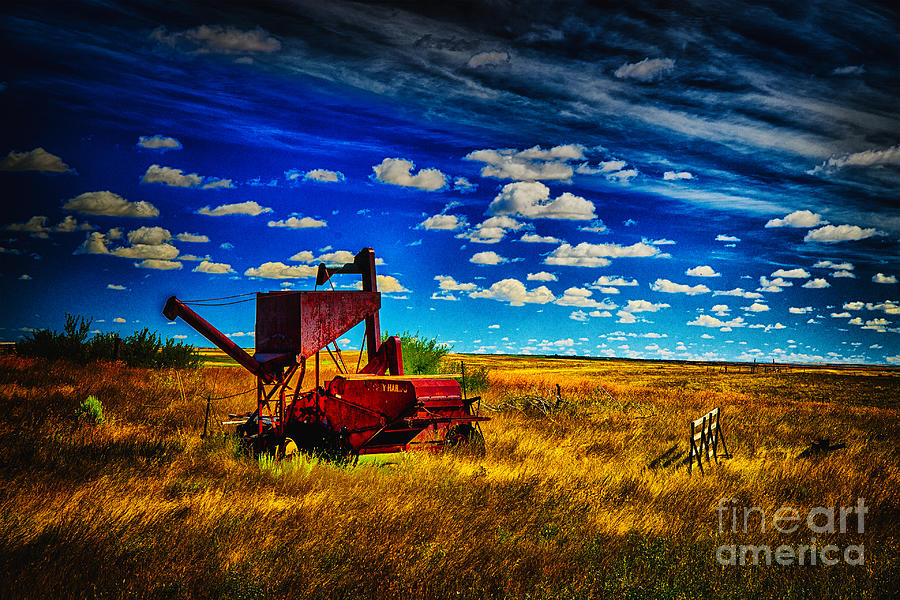 The Red Hopper Photograph by Rick Bragan