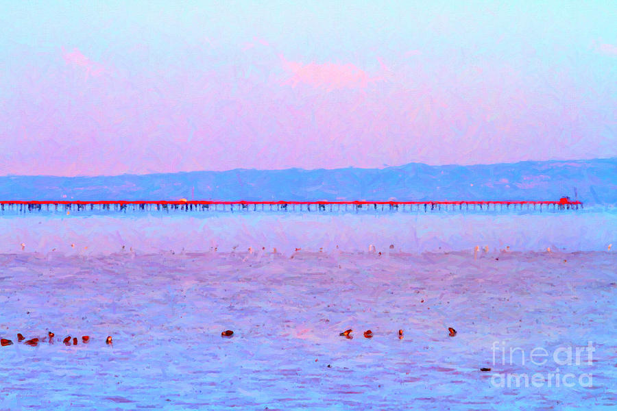 Impressionism Photograph - The Red Pier . 7d12310 by Wingsdomain Art and Photography