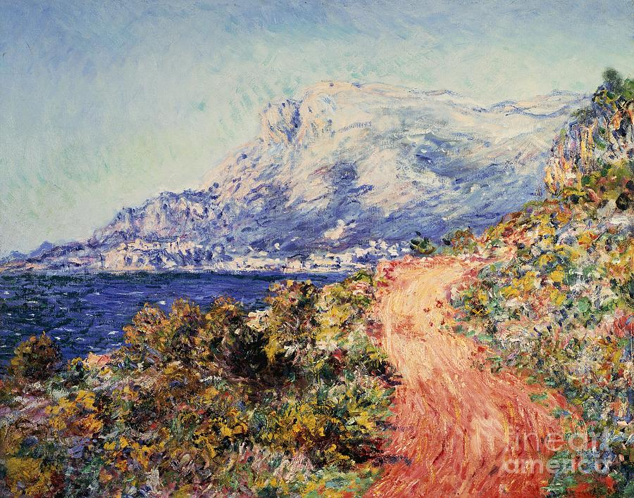 Claude Monet Painting - The Red Road Near Menton by Claude Monet