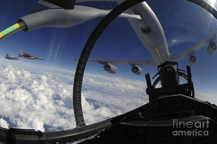 Above Photograph - The Refueling Boom From A Kc-135 by Stocktrek Images