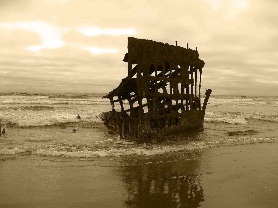 Ship Photograph - The Remains Of A Ship by Kym Backland