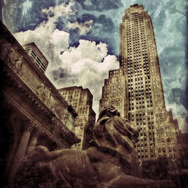Building Photograph - The Resting Lion - Nyc by Joel Lopez