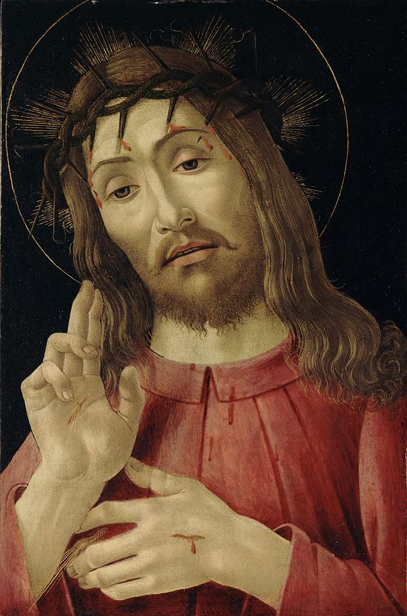 The Painting - The Resurrected Christ by Sandro Botticelli