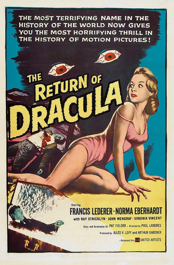 Dracula Photograph - The Return Of Dracula, Francis Lederer by Everett
