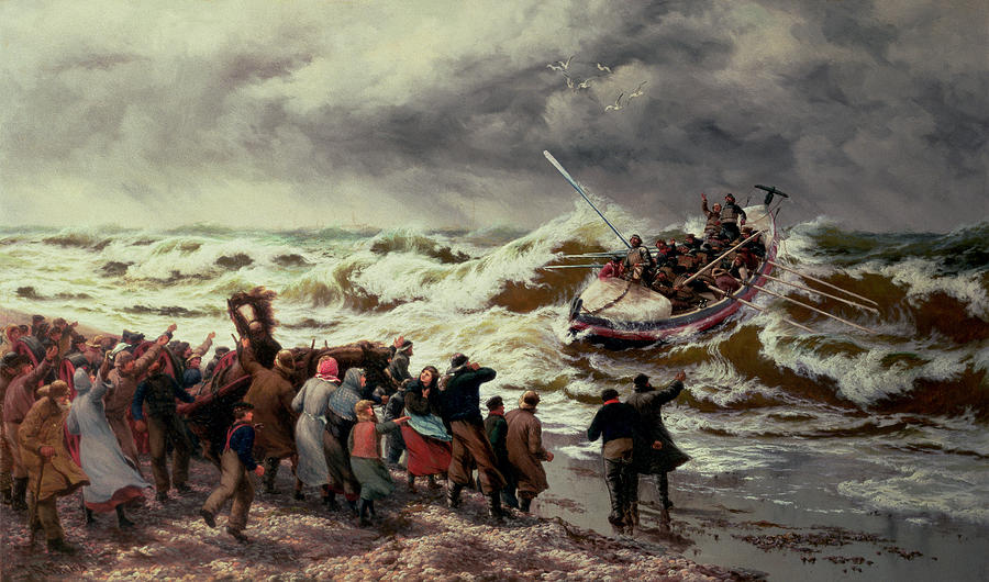 Thomas Painting - The Return Of The Lifeboat by Thomas Rose Miles