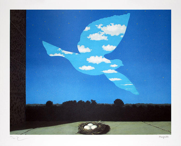 Magritte Painting - The Return by Rene Magritte