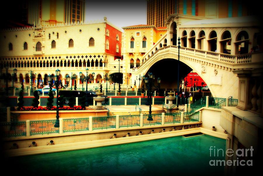 Venice Photograph - The Rialto Bridge Of Venice In Las Vegas by Susanne Van Hulst