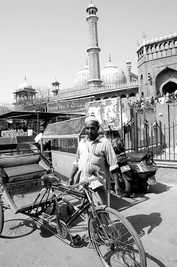 Old Delhi Photograph - The Rickshaw Puller From Old Delhi by Abhilash G Nath