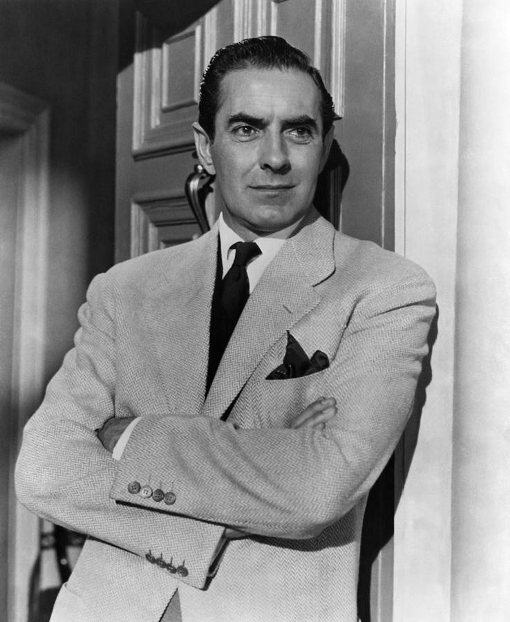 1950s Portraits Photograph - The Rising Of The Moon, Tyrone Power by Everett