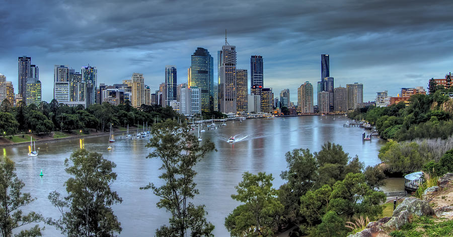 Brisbane Photograph - The River Commute by Mark Lucey