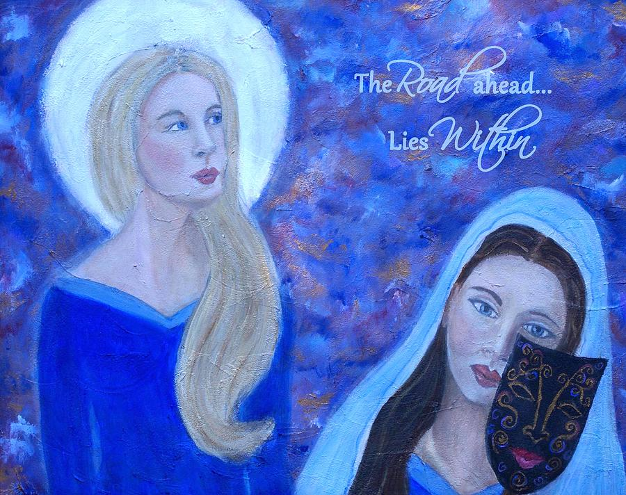 Art Mixed Media - The Road Ahead Lies Within by The Art With A Heart By Charlotte Phillips