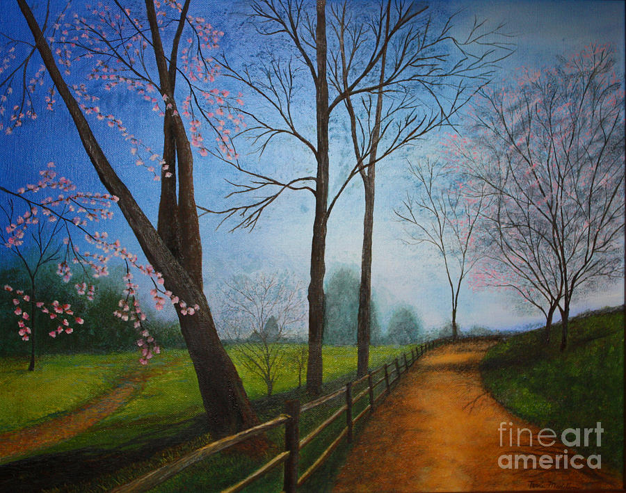 Dirt Road Painting - The Road Less Traveled by Terri Maddin-Miller