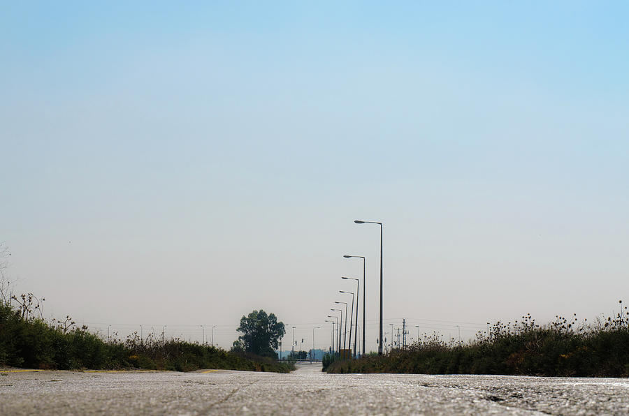 Blue Photograph - The road to nowhere by Michael Goyberg